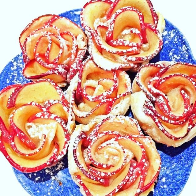 Rosemela in pasta sfoglia dall'alto
