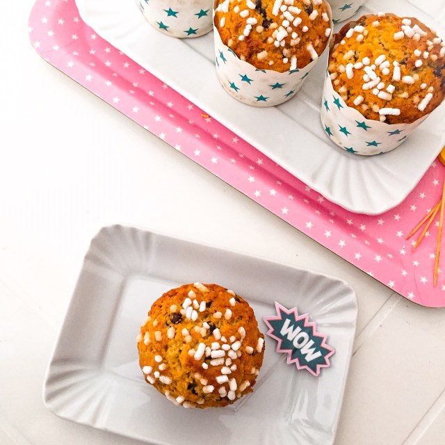 Muffin al panettone dall'alto