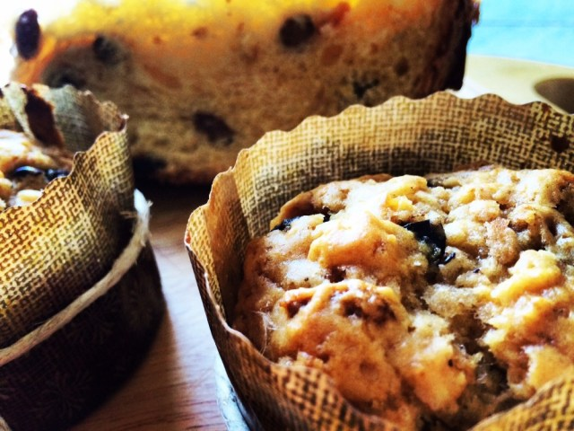 Muffin di panettone