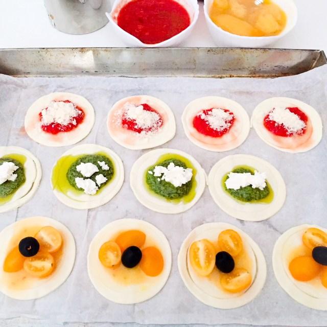 Pizzette di pasta sfoglia da cuocere