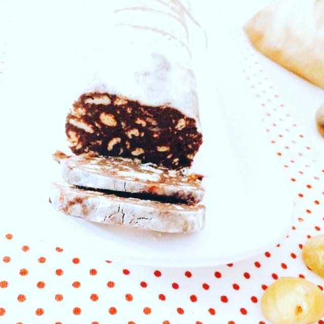 Salame di cioccolato e castagne
