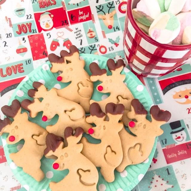 Biscotti Rudolph senza burro dall'alto