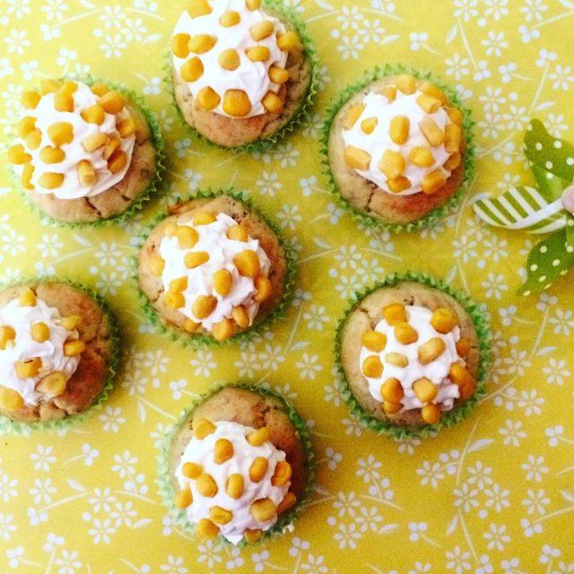Cupcake mimosa mais, tonno e philadelphia visti dall'alto