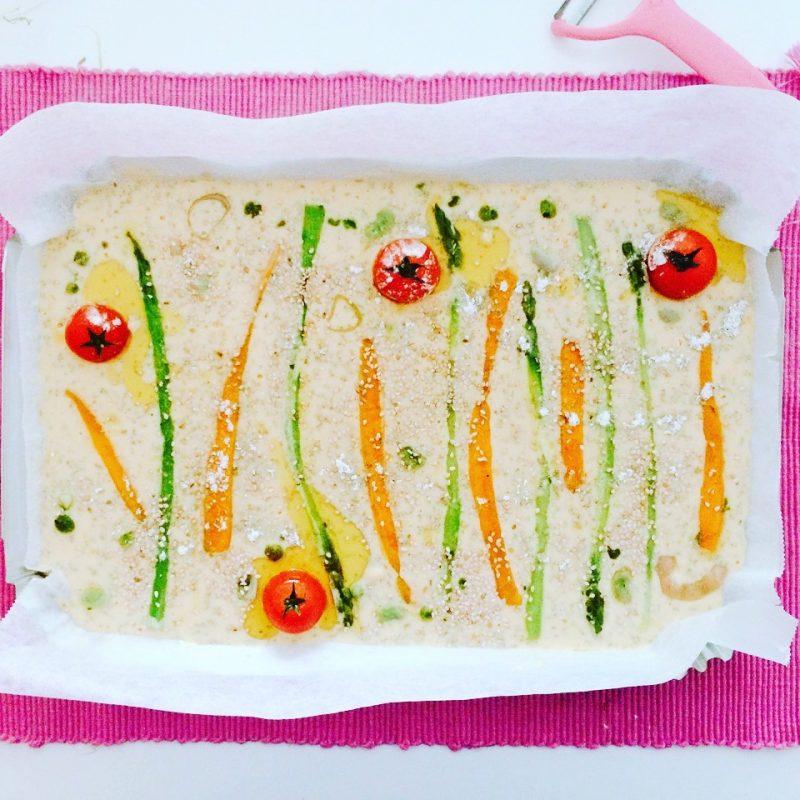 Farinata con verdure da infornare