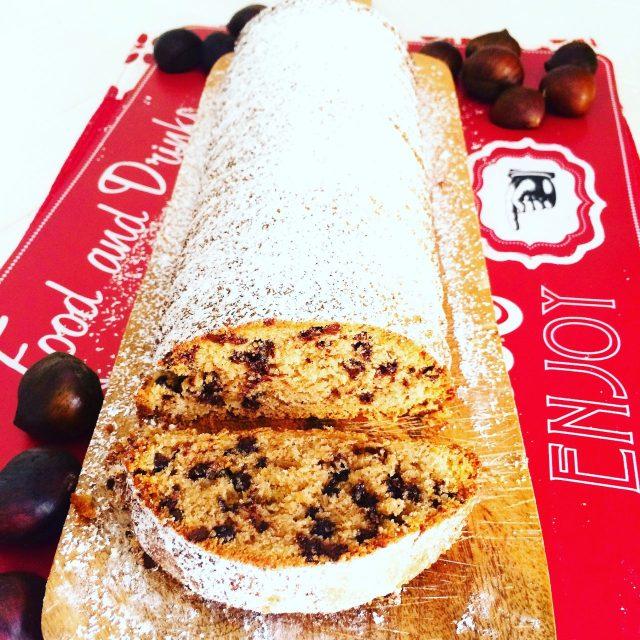 Plumcake con farina di castagne, cioccolato e frutta secca_interno