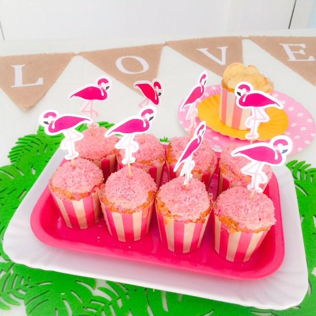 Muffin al cioccolato bianco e cocco (rosa)_Fenicocco in primo piano