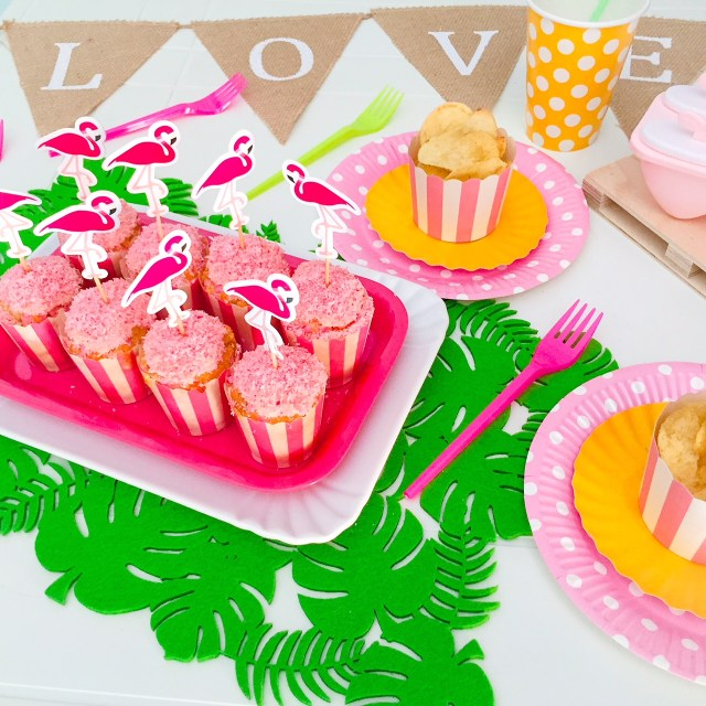 Muffin al cioccolato bianco e cocco (rosa)_Fenicocco party