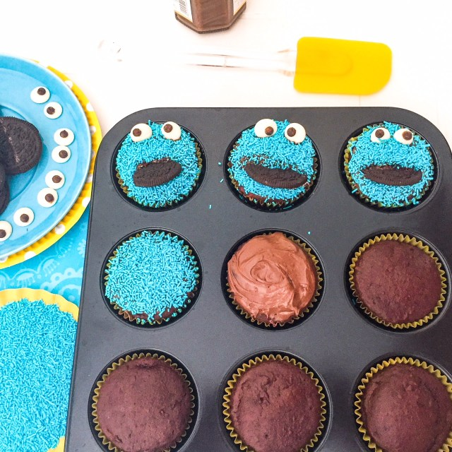 Cookie Monster Cupcake decorazione
