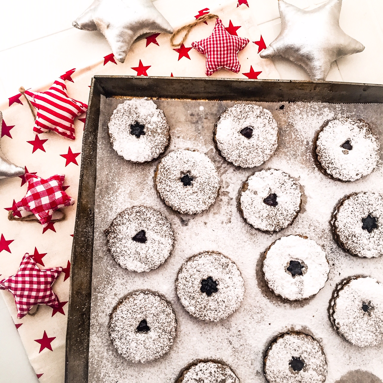 LINZER COOKIES ALL'OLIO