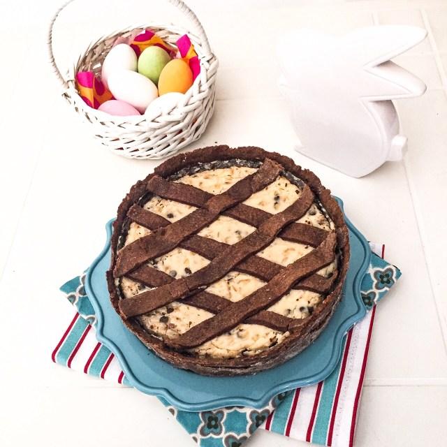 Pastiera al cioccolato da servire