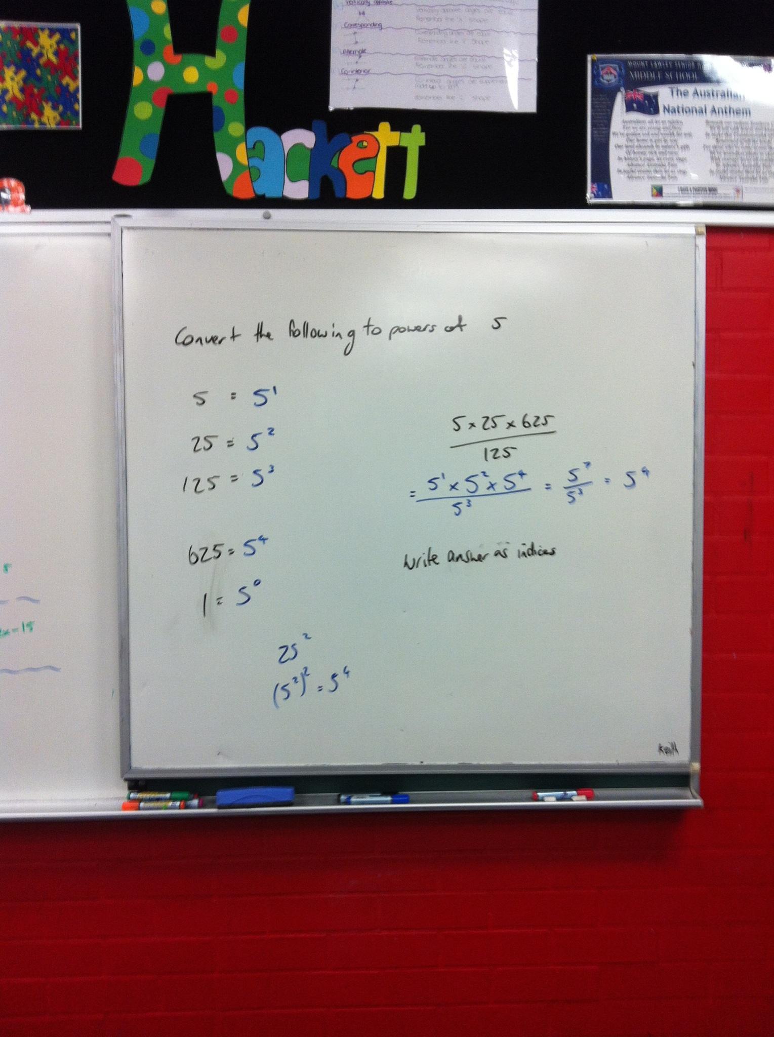 Indices Multiplication Division Amp Zero Index Notes