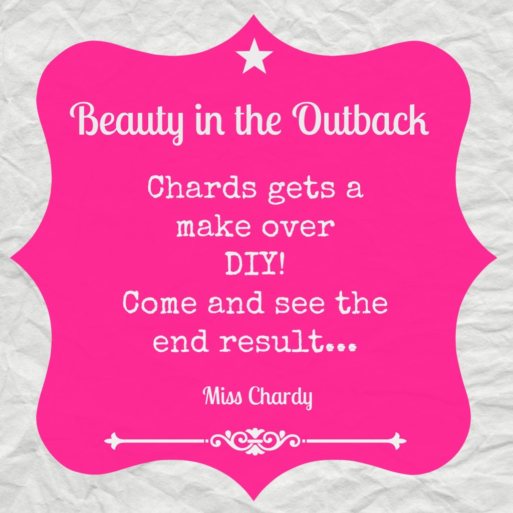 Outback Makeover: Chards takes matters into her own hands