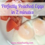 2 Minute Poached Eggs