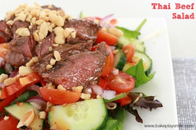 Bake Play Smile Thai Beef Salad