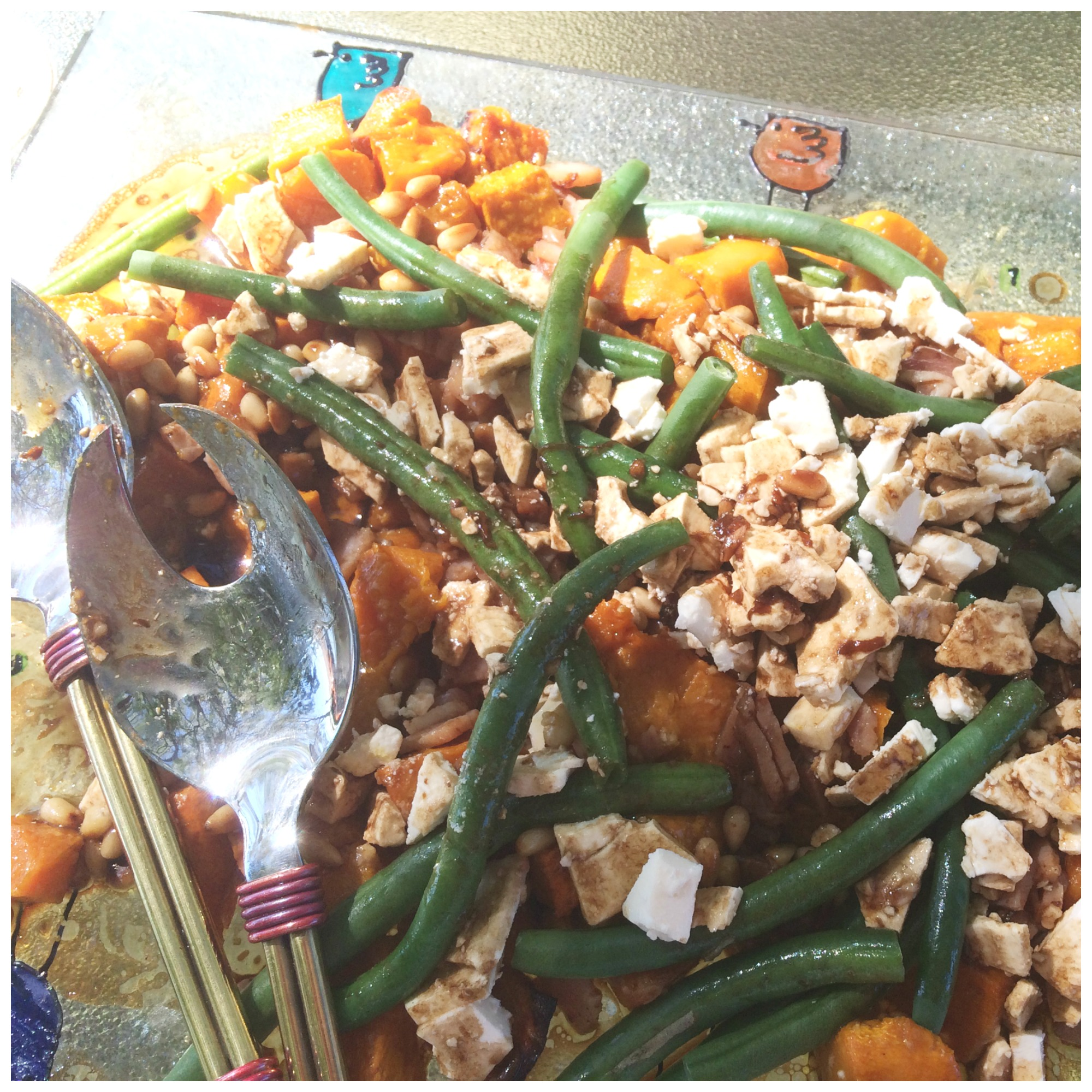Felicity's Roast Pumpkin, Cashew & Philly Salad