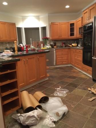 Gorgeous kitchen under all the trash