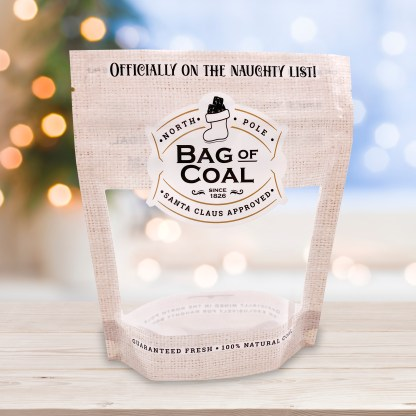 Bag of Coal Cookie Pouch