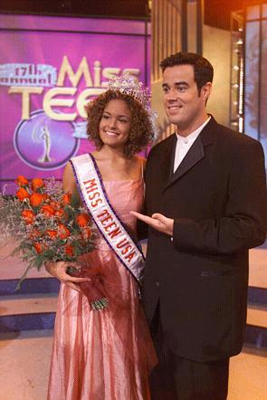 Miss Teen USA with Carson Daly