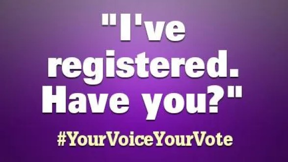 I did register to vote