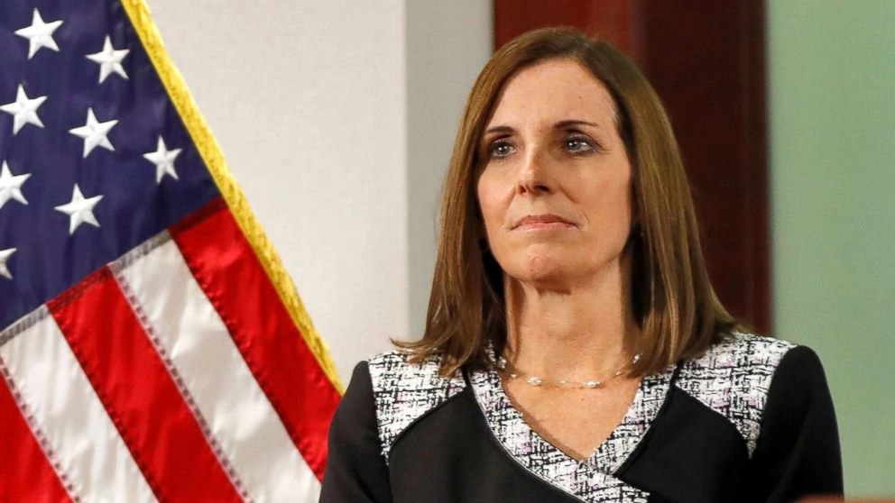 incumbent Republican Martha McSally