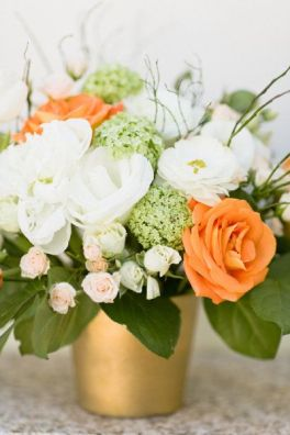 All the colours of the Irish flag tied into one beautiful floral arrangement!