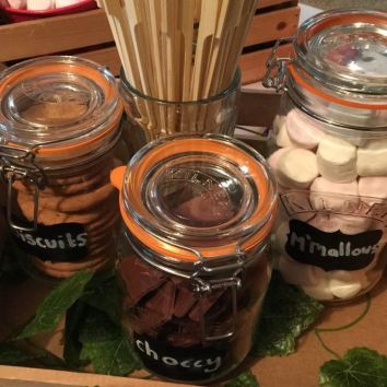 Jars for S'mores Station