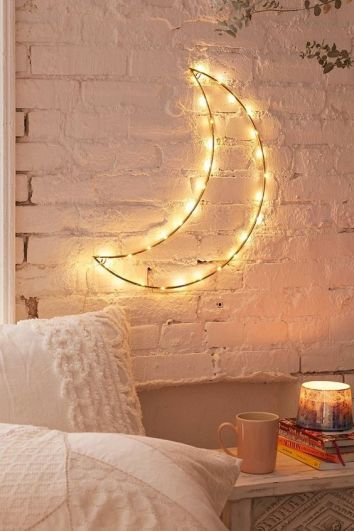 Hygge Exposed Brick and Moon Light