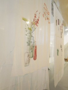 My Lost Home 1故居 1 150 Square feet x 10 feet high Mixed Media Sculpture – Sewing on cloth, painting on cloth, video 2013