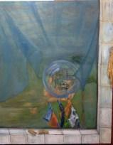 Outside the Window Oil on Canvas 窗外 油畫布本 2012 (Bottom Left)