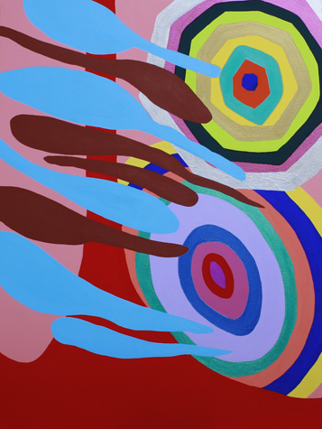 Shimmering Jittery Boom, 2014 Acrylic on canvas 80 x 60 cm