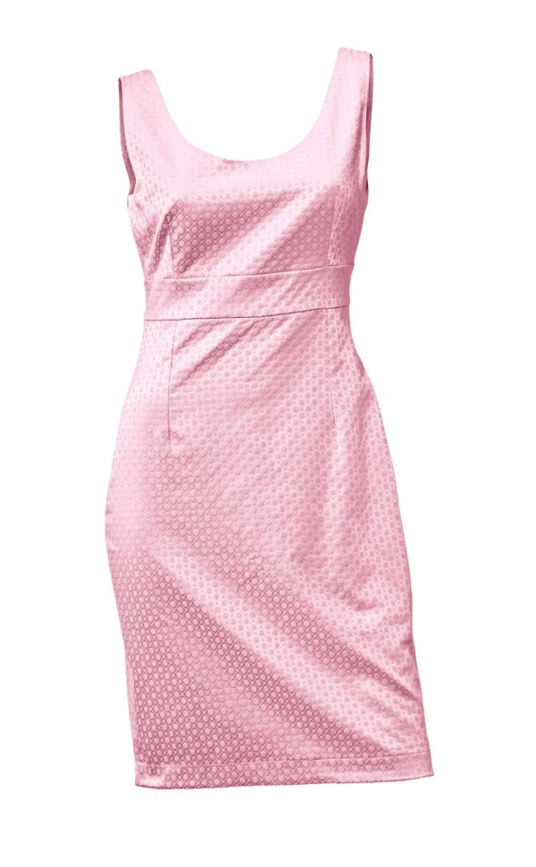 007.100 Jacquard-Etuikleid, rosé von Ashley Brooke event Grösse 52