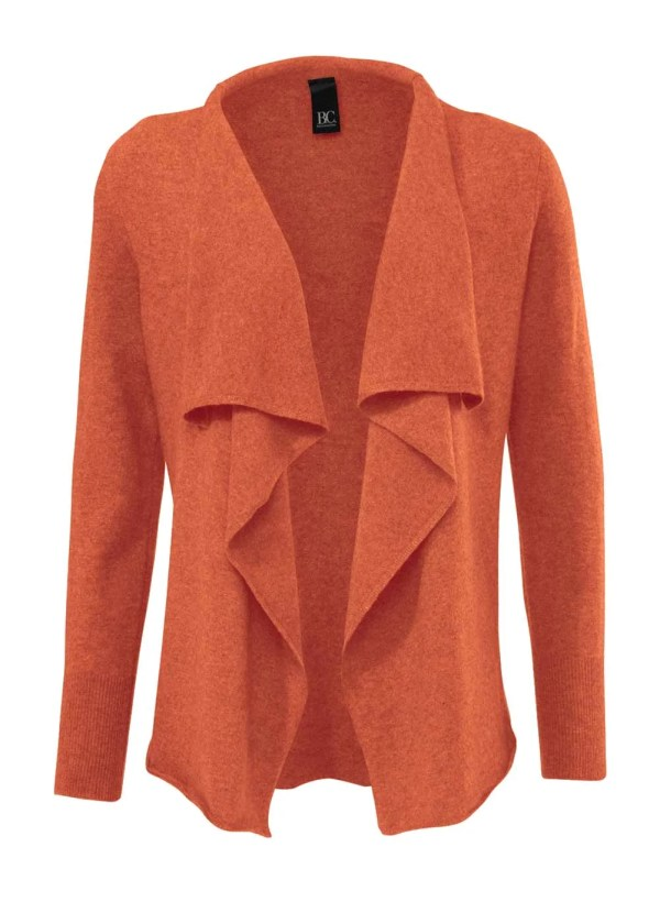 015.827 Heine - Best Connections Designer-Strickjacke mit Kaschmir Mandarin