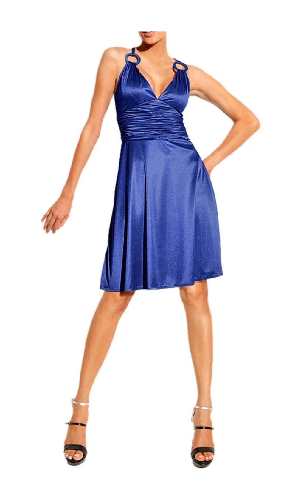 051.722a HEINE Damen Designer-Cocktailkleid Blau