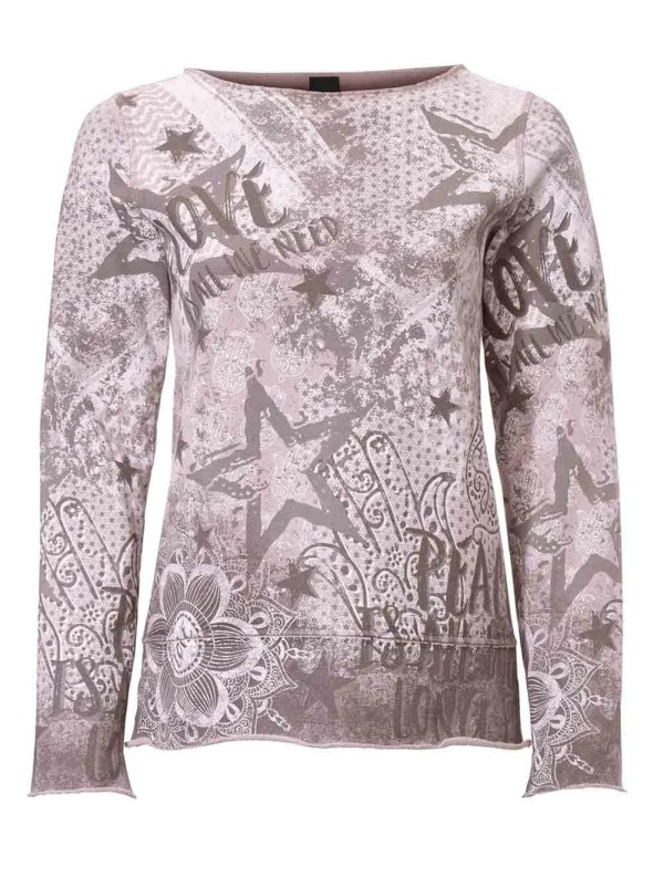 061.459 HEINE Damen Designer-Wende-Sweatshirt Mauve