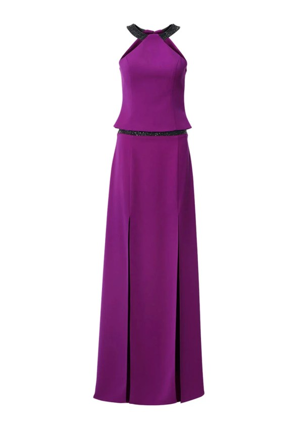 062.560a ASHLEY BROOKE Damen Designer-Abend-2-Teiler Lila