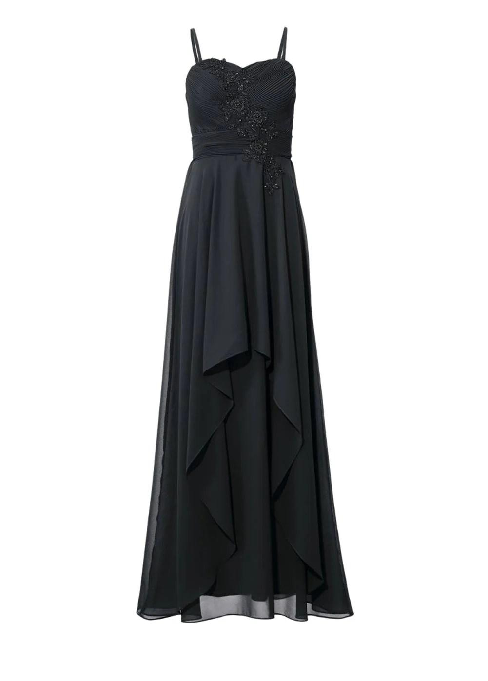 132.868 ASHLEY BROOKE Damen Designer-Abendkleid Schwarz