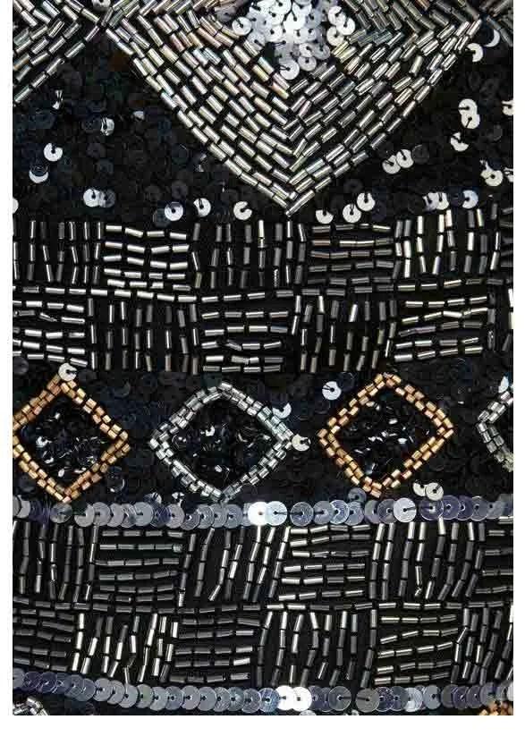 423.623 Paillettenrock, schwarz-silberfarben von Guido Maria Kretschmer Grösse 40