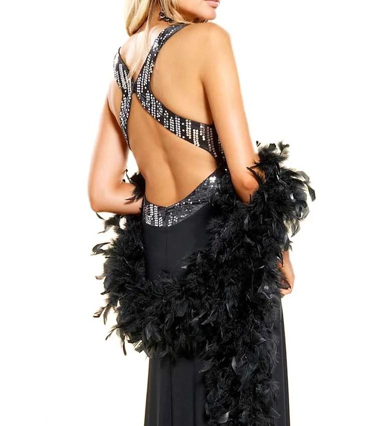 505.828 APART Damen Designer-Abendkleid m. Pailletten Schwarz