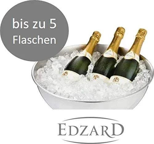 7746 Champagnerkühler Cara, Edelstahl hochglanzpoliert, gehämmert, Durchmesser 40 cm, Höhe 21 cm