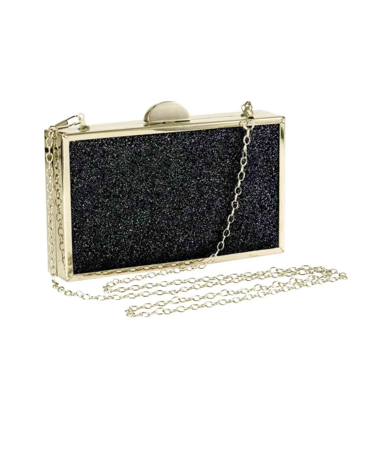 635.926 HEINE Damen Designer-Clutch Schwarz-Gold