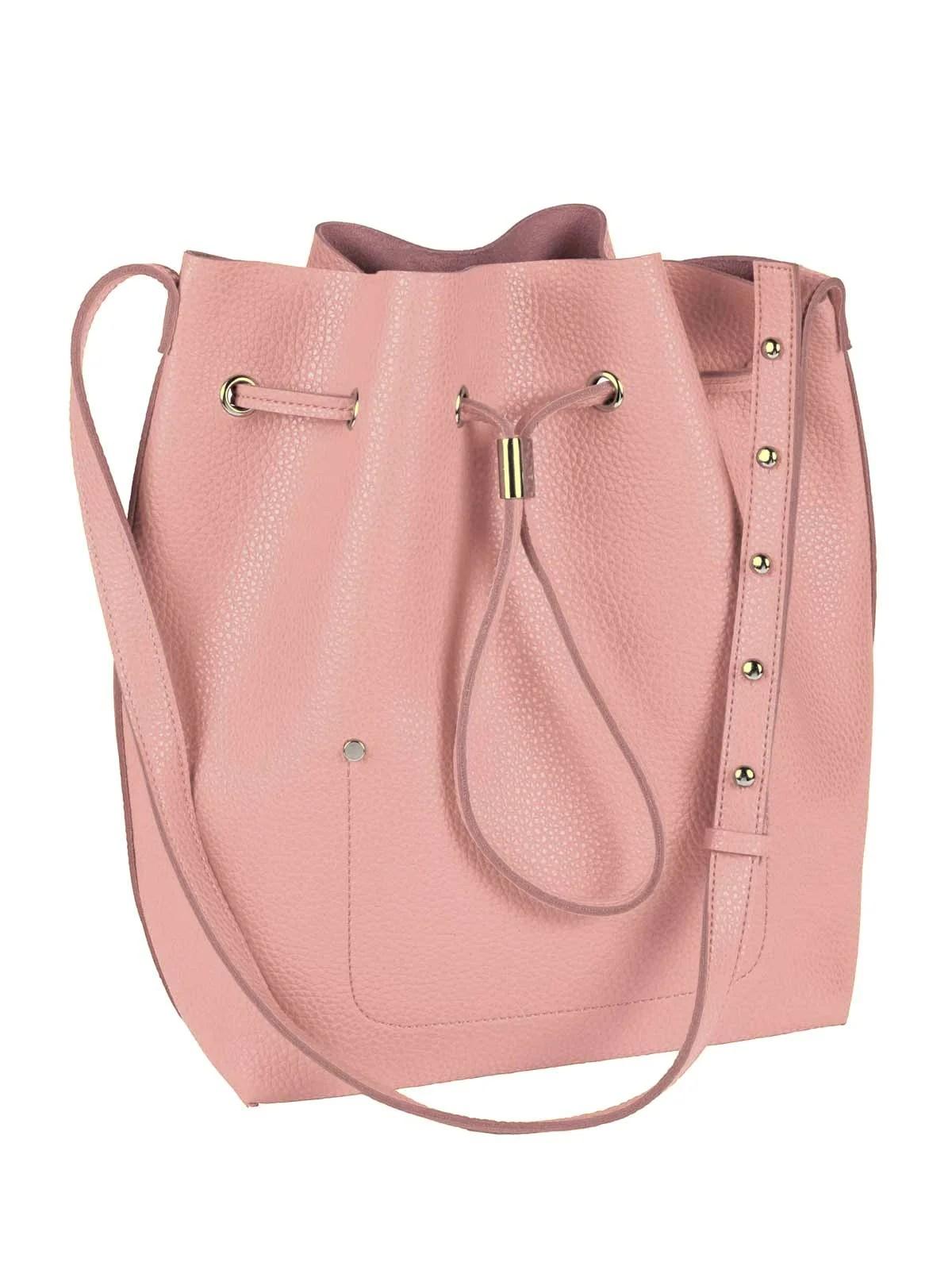 690.526 HEINE Damen Designer-Lederimitat-Tasche Rosé
