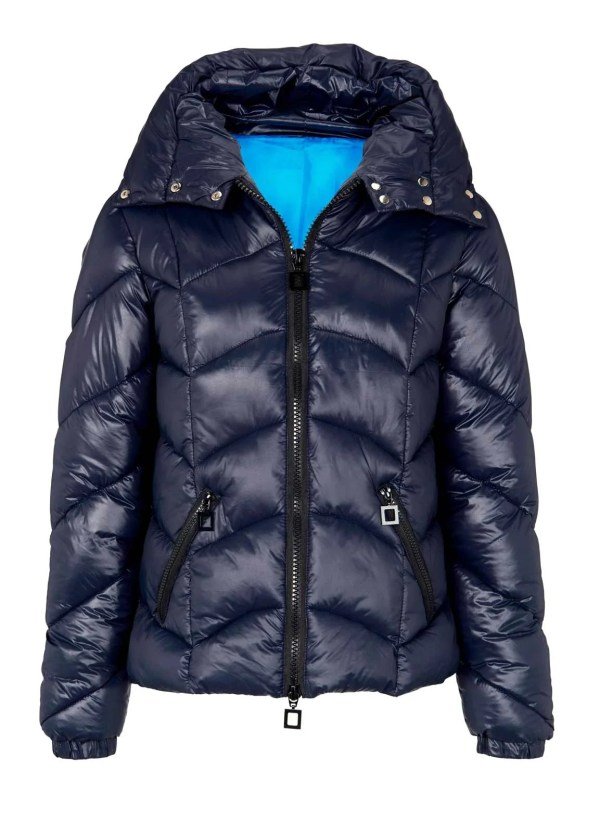 891.689 HEINE Damen Designer-Steppjacke Blau Wattiert Warm Winterjacke Winter Jacke