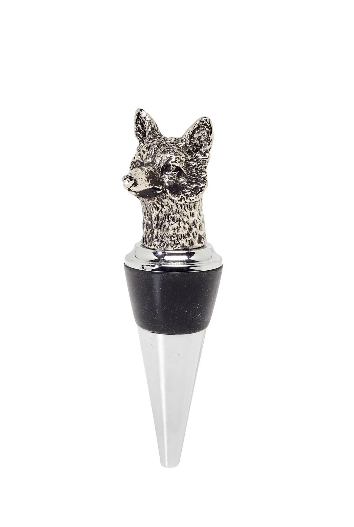 2165 Edzard Flaschenverschluss Weinverschluss 3 Stück Tiere Figuren Jäger Korken Glas