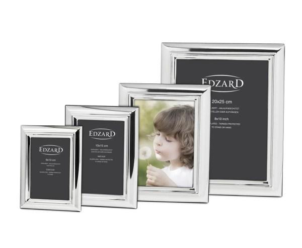 1127 Edzard Fotorahmen Bilderrahmen Florenz für Foto 10 x 15 cm Edel versilbert