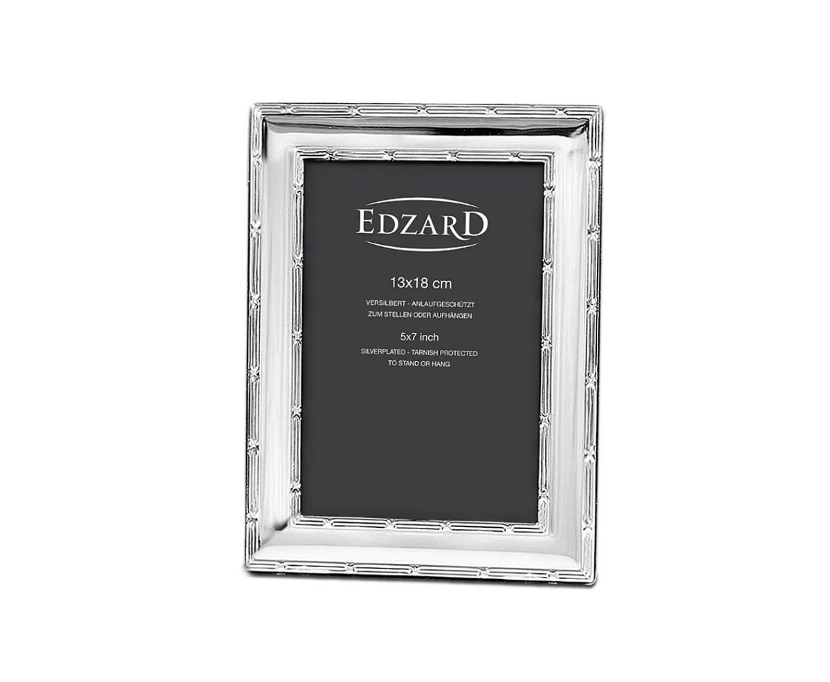 1618 EDZARD Fotorahmen Bilderrahmen Melissa für Foto 13 x 18 cm, edel versilbert,