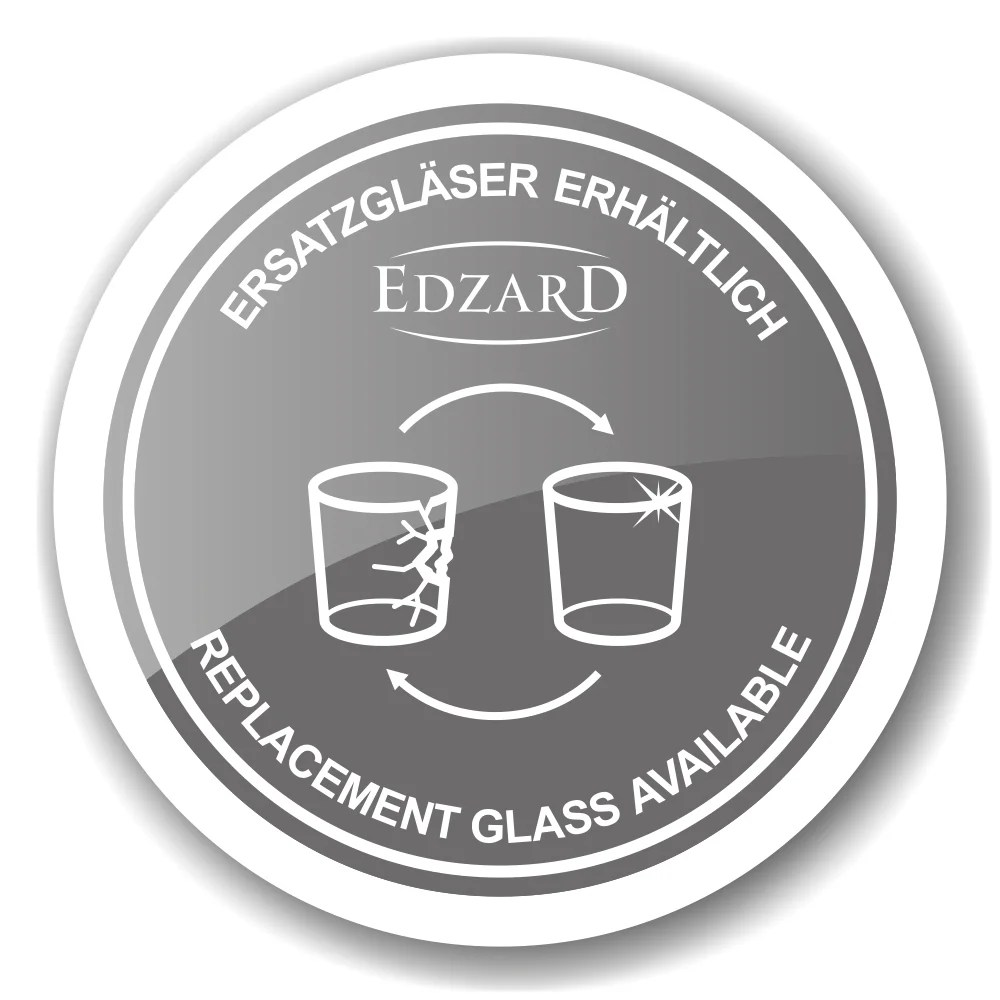 7421 Edzard Laterne Windlicht Glas Wellington Edelstahl Glänzend Silber Höhe 45 cm
