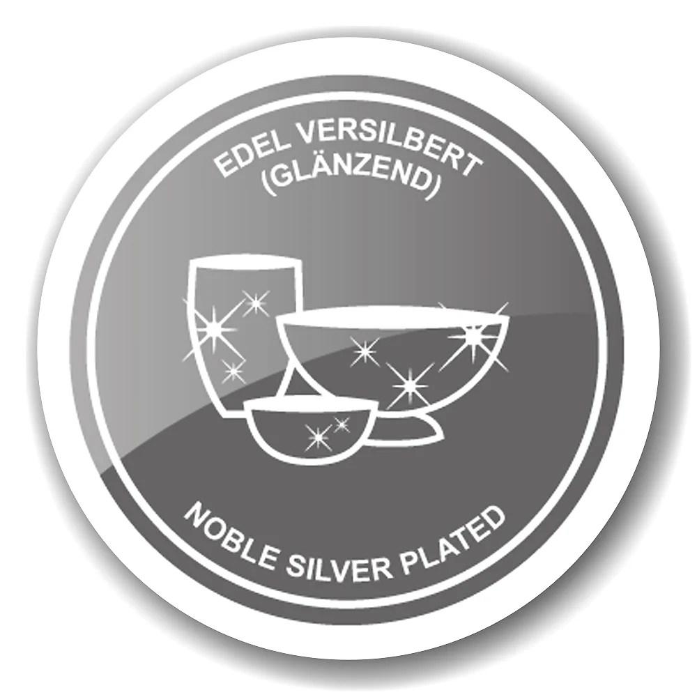 4464 Edzard Salz- und Pfefferstreuer Salzstreuer Greca Silberfarben Versilbert Edel