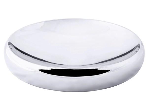 8995 Schale Dekoschale Alamo, rund, Edelstahl hochglanzpoliert, Durchmesser 39 cm