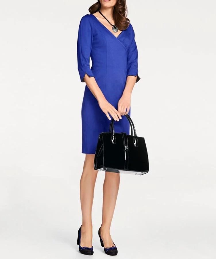 091.443 PATRIZIA DINI Damen Designer-Etuikleid Royalblau