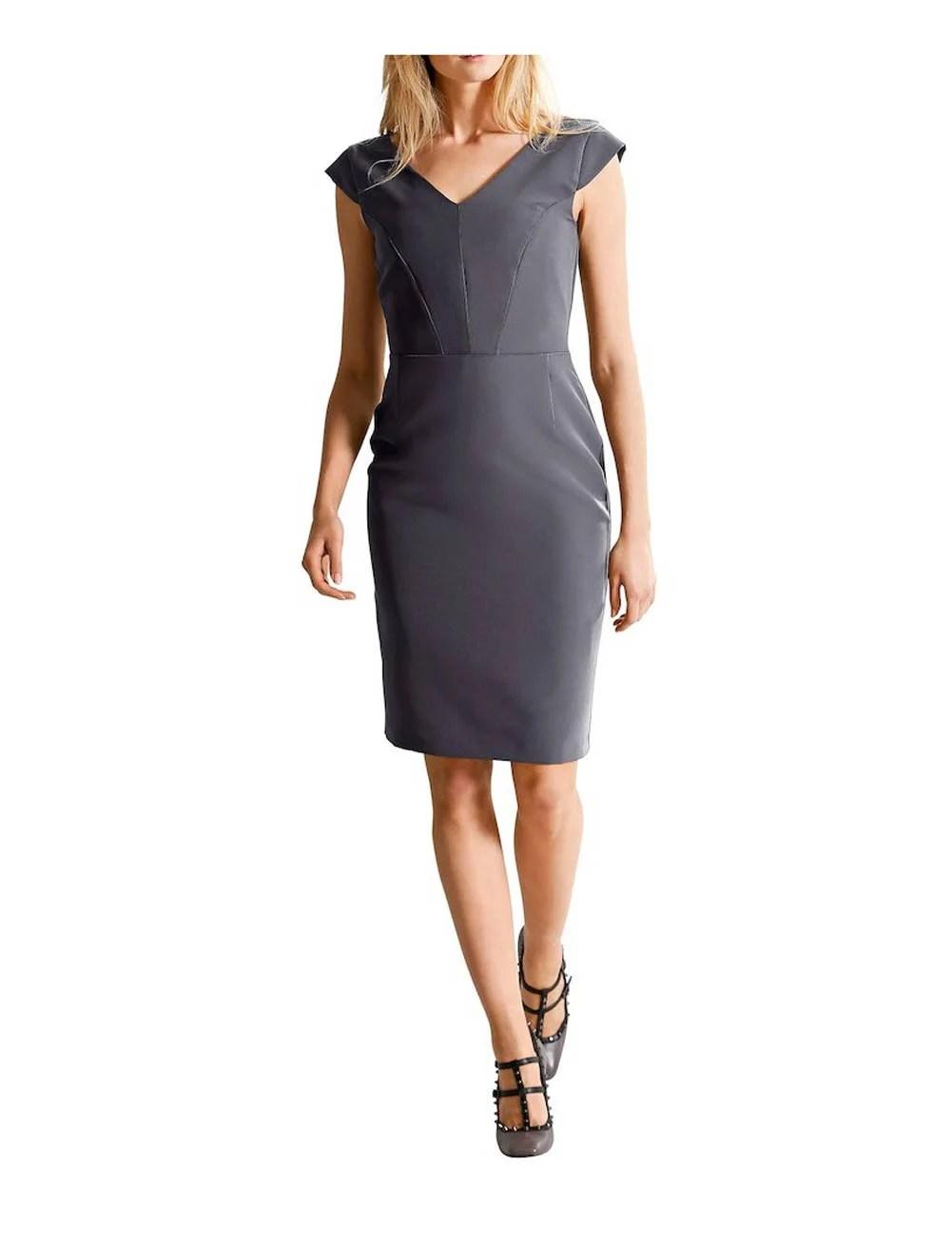 461.785 ALBA MODA Damen Designer-Etuikleid Grau